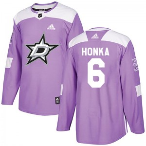 Youth Dallas Stars Julius Honka Adidas Authentic Fights Cancer Practice Jersey - Purple