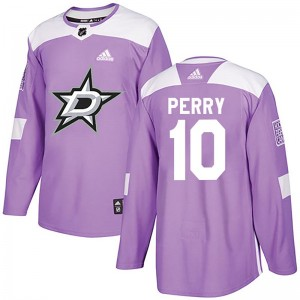 Youth Dallas Stars Corey Perry Adidas Authentic Fights Cancer Practice Jersey - Purple