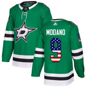 Youth Dallas Stars Mike Modano Adidas Authentic USA Flag Fashion Jersey - Green